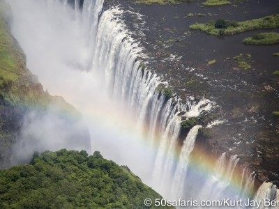 Victoria falls, calendar, when to go, best, wildlife, safari, photo safari, photo tour, photographic safari, photographic tour, photo workshop, wildlife photography, 50 safaris, 50 photographic safaris, kurt jay bertels, rainbow, waterfall, helicopter