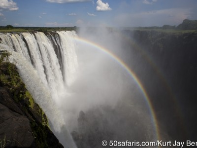 Victoria falls, calendar, when to go, best, wildlife, safari, photo safari, photo tour, photographic safari, photographic tour, photo workshop, wildlife photography, 50 safaris, 50 photographic safaris, kurt jay bertels, rainbow, waterfall