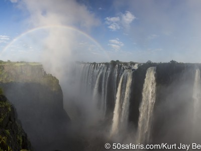 Victoria falls, calendar, when to go, best, wildlife, safari, photo safari, photo tour, photographic safari, photographic tour, photo workshop, wildlife photography, 50 safaris, 50 photographic safaris, kurt jay bertels, rainbow, waterfall,